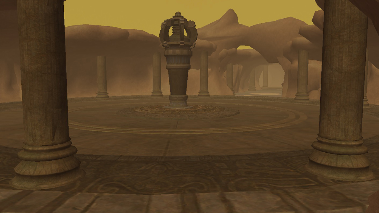 Image of one of the zones of Temple of Sand
