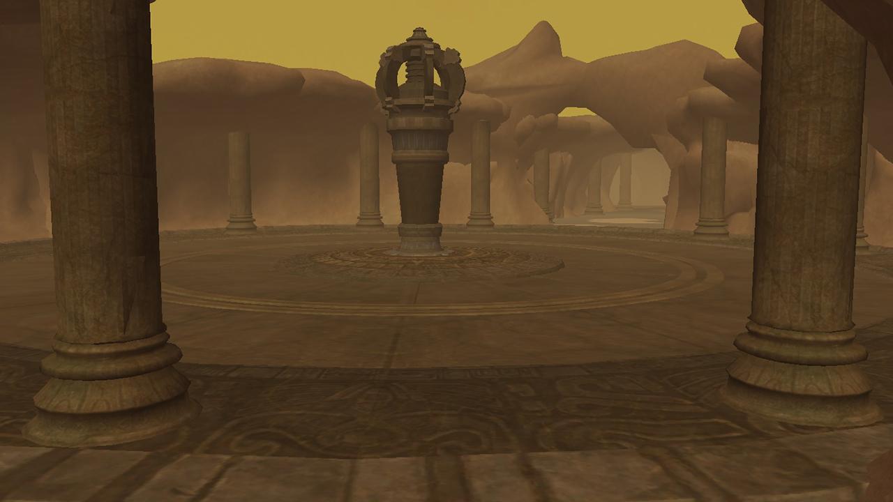 Imagem de uma das zonas do Templo da Areia